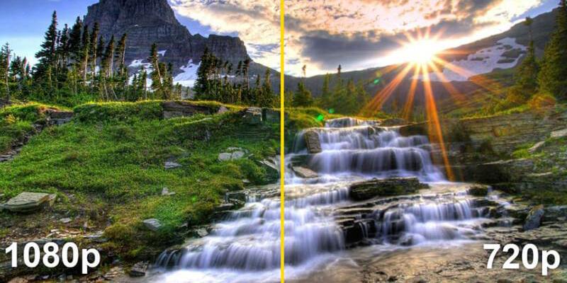 تفاوت بین رزولوشن 720p و 1080p
