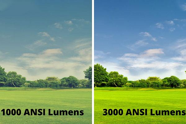 تفاوت تصاویر با تفاوت میزان انسی لومنز