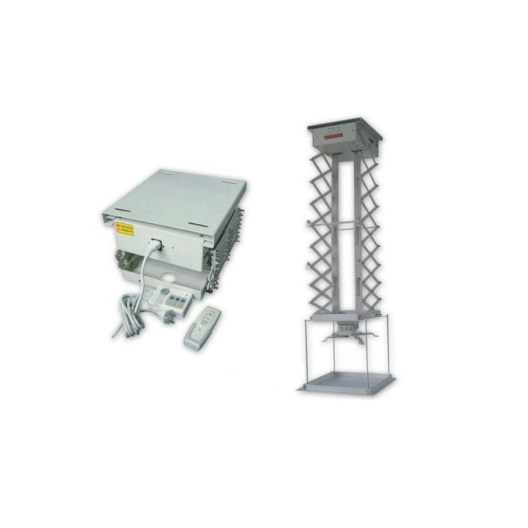 پایه پروژکتور برقی مدل 1 متری آکاردئونی