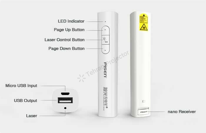 پاوربانک-پرزنتر پایزن pisen TS-D159 Powerbank