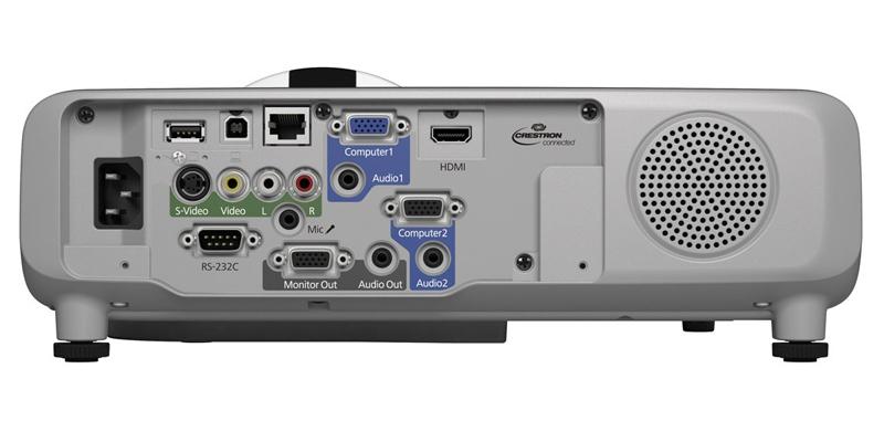 وضعیت درگاههای اتصالات در اپسون مدل Epson EB-535W