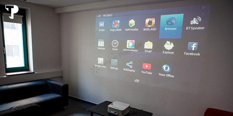 تصویر صاف ویدئو پروژکتور Epson EB-W28 در هر زاویهای