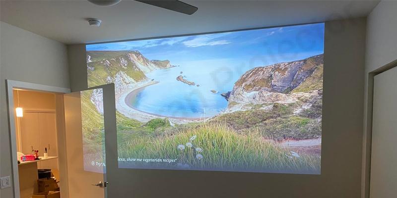 نمایش تصاویر بزرگ با MH550 در فضای کوچک