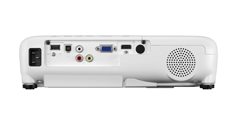 درگاههای اتصالات در ویدئو پروژکتور Epson EB-W51