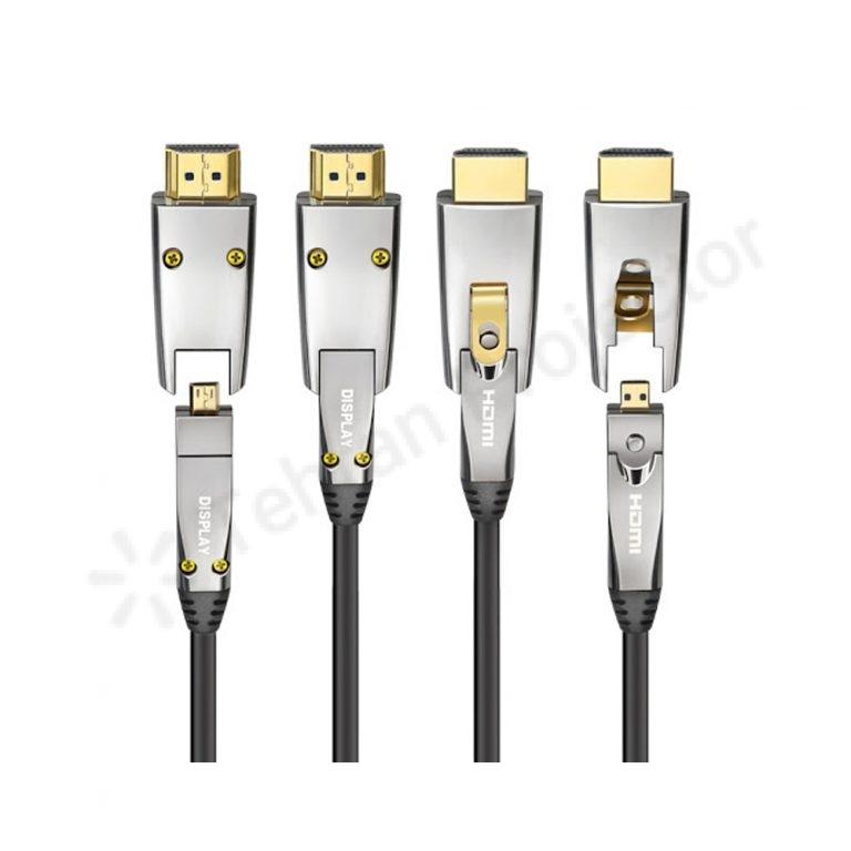 کابل اچ دی ام آی اکتیو فیبر اپتیکال HDMI 2.0 Active Fiber Optical (AOC) DM TO DM 20