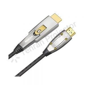 کابل اچ دی ام آی اکتیو فایبر اپتیکال 10 متری HDMI 2.0 Active Fiber Optical (AOC) AM TO DM
