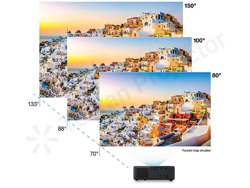 نمایش تصاویر در ابعاد وسیع در پروژکتور جیبی اپسون
