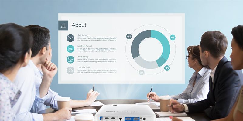 نرخ کنتراست در پروژکتور تجاری/اداری