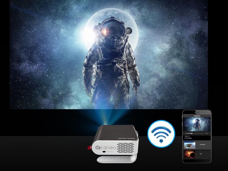 قابلیت استفاده از تلفن همراه به عنوان کنترل از راه دور پروژکتور در ویدئو پروژکتور Viewsonic m1 plus G2