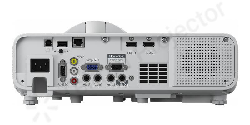 درگاههای اتصالات کارآمد در ویدئو پروژکتور Epson EB-L200SW