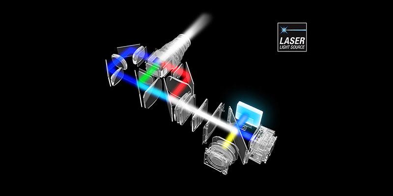عمر بالای منبع نوری لیزری در پروژکتور کنفرانسی اپسون مدل EB-L200XS