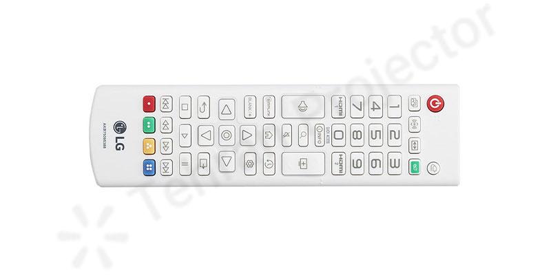 قابلیت استفاده از ریموت کنترل در ویدئو پروژکتور LG ProBeam BF50NST