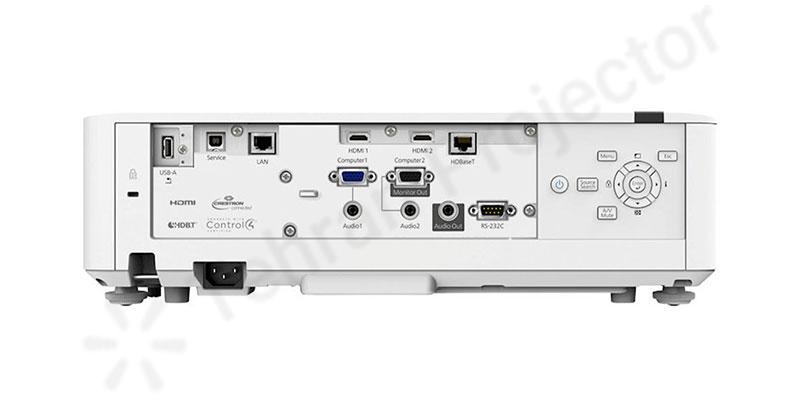 وضعیت درگاههای اتصالات در ویدئو پروژکتور لیزری Epson EB-L520U
