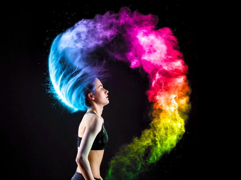 نویز تصویری در پروژکتور DLP به نام اثر رنگین کمانی