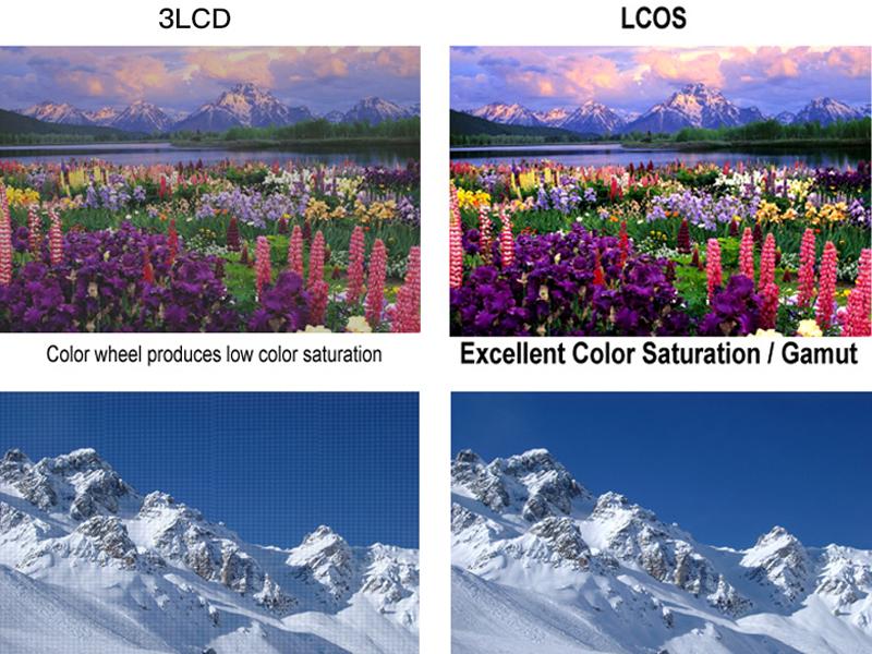 تصاویر LCOS واضح تر از پروژکتور 3LCD