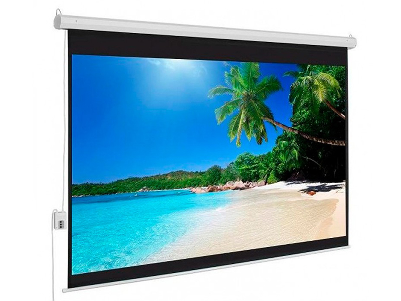 تصویری از پردهی نمایش پروژکتور با ابعاد 16:9 HD TV